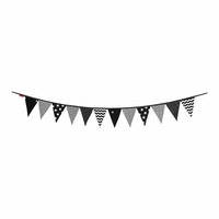 Myka_kids Bunting Flags - Monochrome