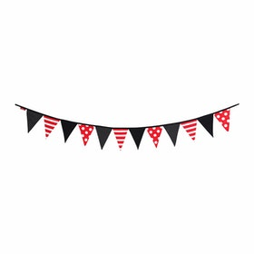 Myka_kids Bunting Flags - Black&Red