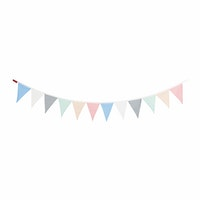 Myka_kids Bunting Flags - Pastels