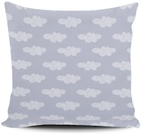 Myka_kids Light Grey Clouds Cushion Cover 40x40