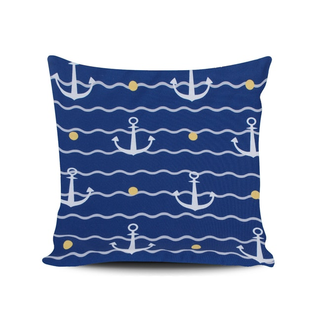 Myka_kids Small Anchor Navy Cushion Cover 40x40