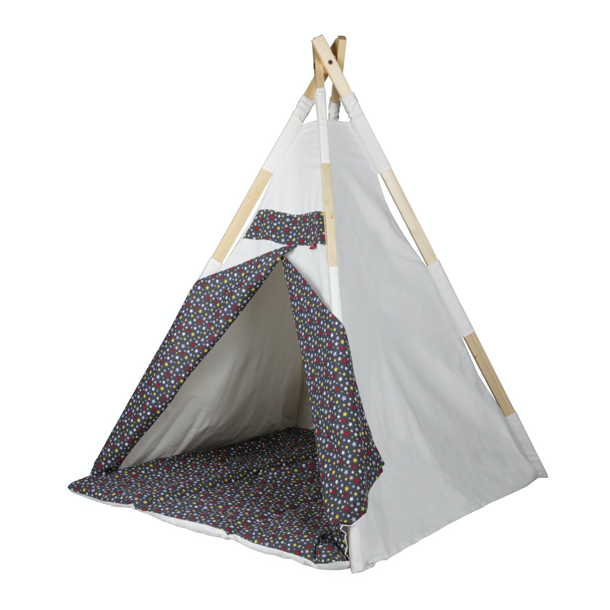Myka_kids Teepee Natural Starry Night