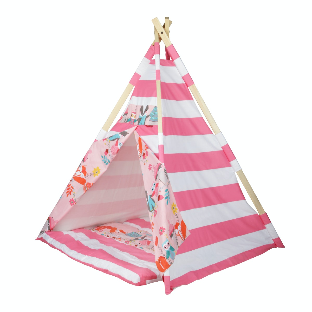 Myka_kids Teepee Pink Woodland Animals