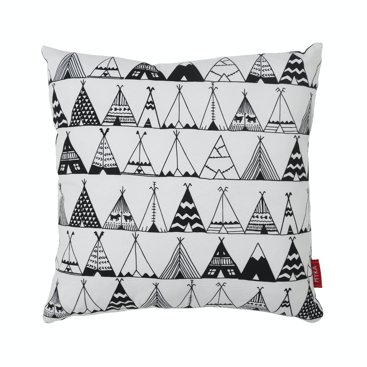 Myka_kids Cushion Cover 40x40 - BW Teepee Tent