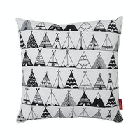 Myka_kids Cushion 40x40 - BW Teepee Tent