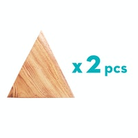 Nanaunique Store Triangle Coaster Kayu 2 pcs Tatakan Gelas