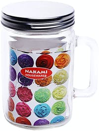 Nakami Glass Canister 800ml Metalik