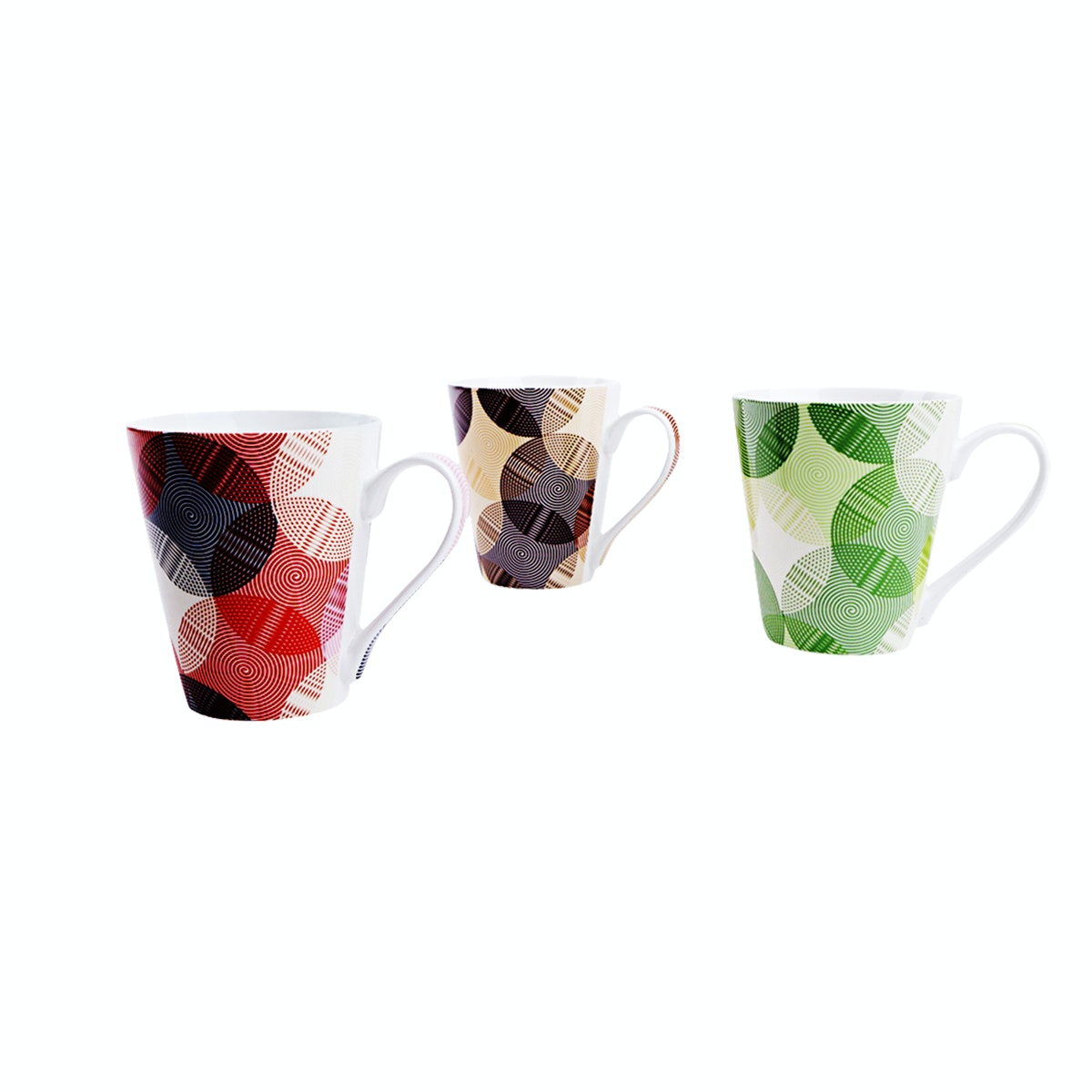 Nakami 3Pcs New Bone Mug Set