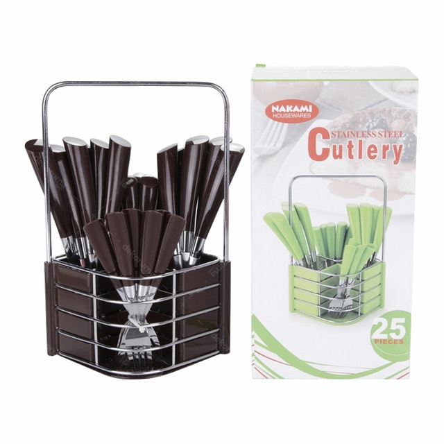 Nakami 25 Pcs Sendok Set Brown