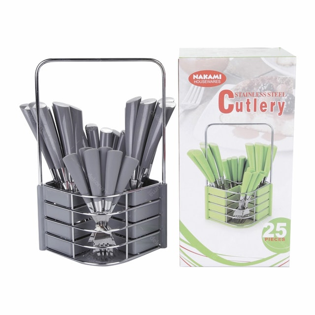 Nakami 25 Pcs Sendok Set Gray