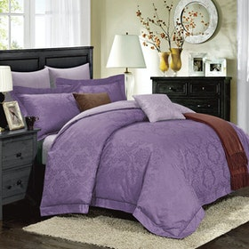 Kanaya Sheets Set Coco Magenta Lilac (Queen)
