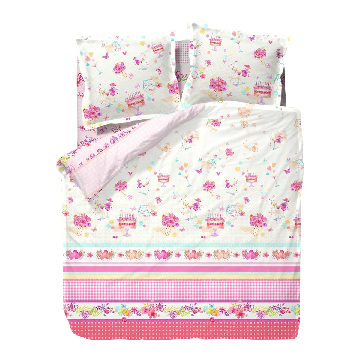 Kanaya Nina MG Heidi Bed Sheet Set (King) 180x200x30cm