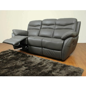 CASABEL Alma Sofa Recliner 3 Seater Grey