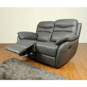 CASABEL Alma Sofa Recliner 2 Seater Grey