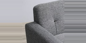Heim Studio Hongo Sofa Set Dudukan Dark Grey