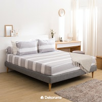 Linori Set Sprei Katun Motif Gaya - Super Single 120x200x40cm
