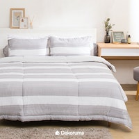 Linori Bed Cover Katun Motif Gaya - Double 230x230cm