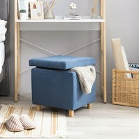 Heim Studio TATE Storage Stool Biru Navy