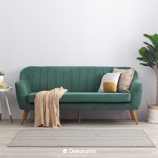 Heim Studio Jun Sofa 3 Seater Hijau