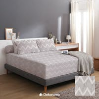 Linori Set Sprei Katun Motif Kimi - Super Single 120x200x40cm