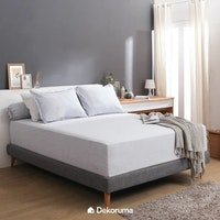 Linori Set Sprei King Motif Kuki Light Grey - Ukuran 180x200x40 cm