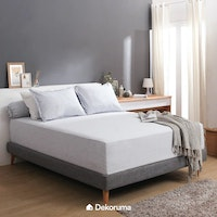 Linori Set Sprei Single Motif Kuki Light Grey - Ukuran 100x200x40 cm