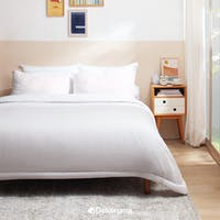 Linori Bed Cover Motif Kuki Grey / Cream - Double 230x230cm