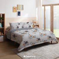 Linori Bed Cover Single Motif Hima / Kiyo Grey, Ukuran 140x230 cm