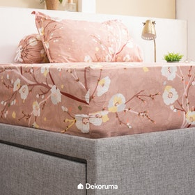 Linori Set Sprei Sarung Bantal Super Single Motif Dera, Ukuran 120x200x40 cm