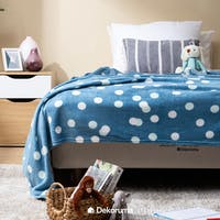 Linori Selimut Fleece Motif Kana Blue Uk. 150x200cm