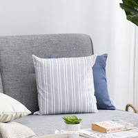 Linori YUBI Sarung Bantal Sofa Stripes Blue 40x40cm