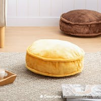 Linori FUMI Round Floor Cushion 45cm - YELLOW