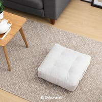 Linori Kumi Square Floor Cushion - Grey