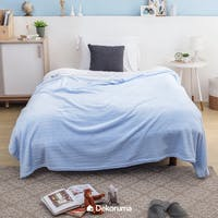 Linori Selimut Fleece Motif Dami Light Blue Uk. 150x200cm