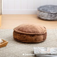 Linori FUMI Round Floor Cushion 45x45x15cm - BROWN