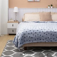 Linori Selimut Fleece Motif Miru - Blue Uk. 150x200cm