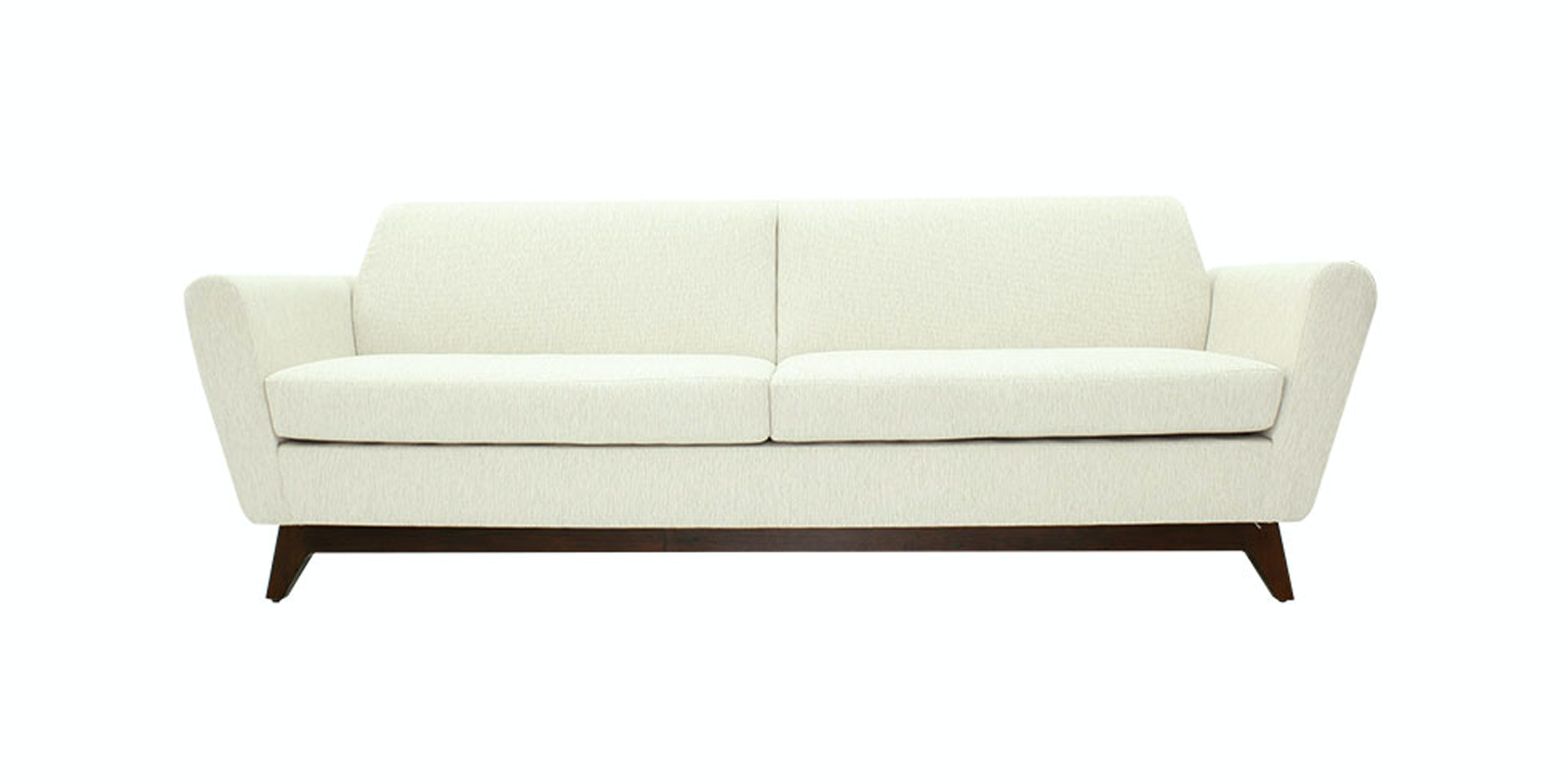 Nestudio Frankie Forte Three Seater Sofa White Chocolate