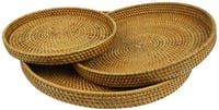 Nestudio Acacia Rattan Tray [Set of 3]