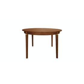 nestudio Meja Makan - Nestudio Thompson Round Dining Table - Brown Walnut