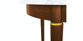 nestudio Meja Makan - Nestudio Thompson Round Dining Table - White Marble