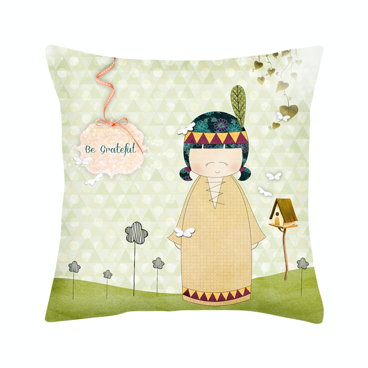 Rumah Odelle Be Grateful Cushion Cover 40cmx40cm (Cover)