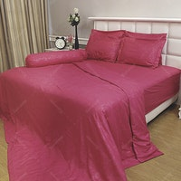 Vallery Quincy Bed Cover Dark Pink BC 245x225cm