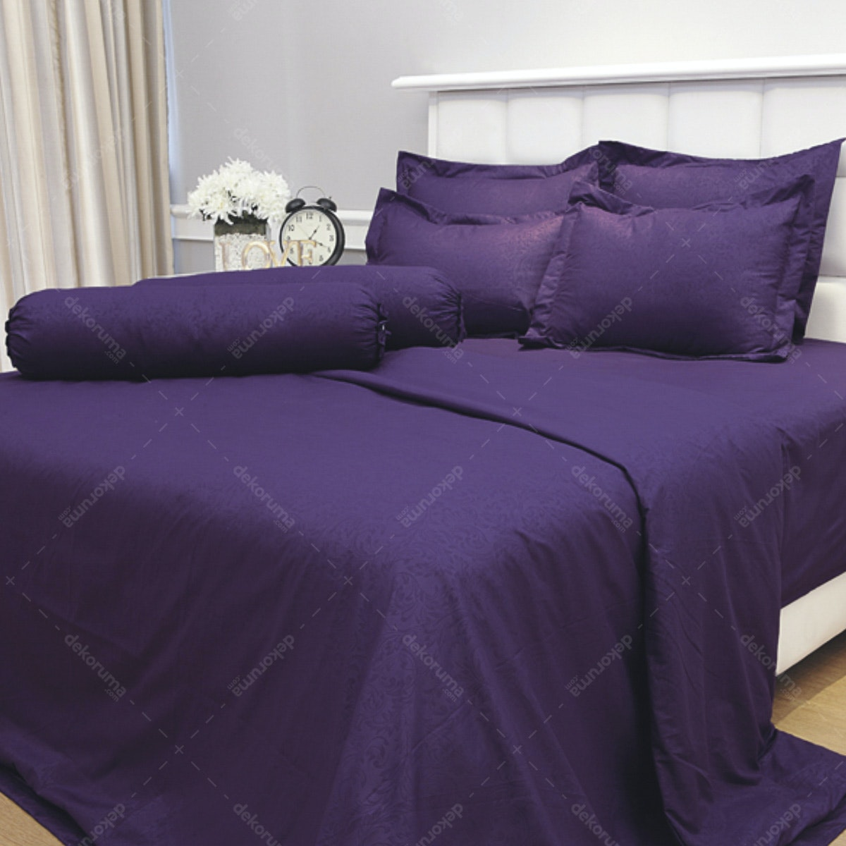 Vallery Quincy Bed Cover Dark Purple BC 245x225cm