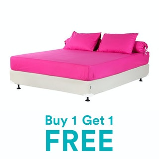 SISTA Set Sprei Katun Pink Fuschia 160x200x20cm - SET OF 2