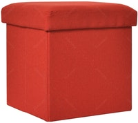 OLC Storage Box Chair Red