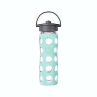 Life Factory Life Factory 16oz Glass Bottle 475ml Straw Cap - Turquoise