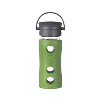 Life Factory Life Factory 12oz Glass Bottle 350ml Cafe Series - Sage