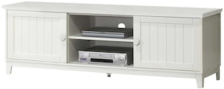 Olive House Mahogany 1500 TV Cabinet White