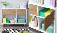 Olive House Helinski Low 5 Drawers