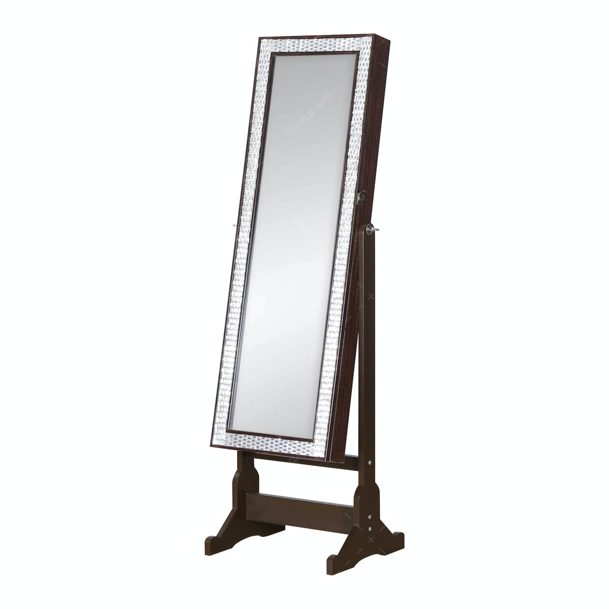 Olive House Cubic Mirror Jewelry cheval Brown